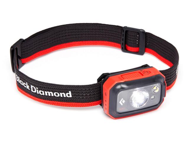 Black Diamond Revolt 350 Linterna frontal, gris/rojo